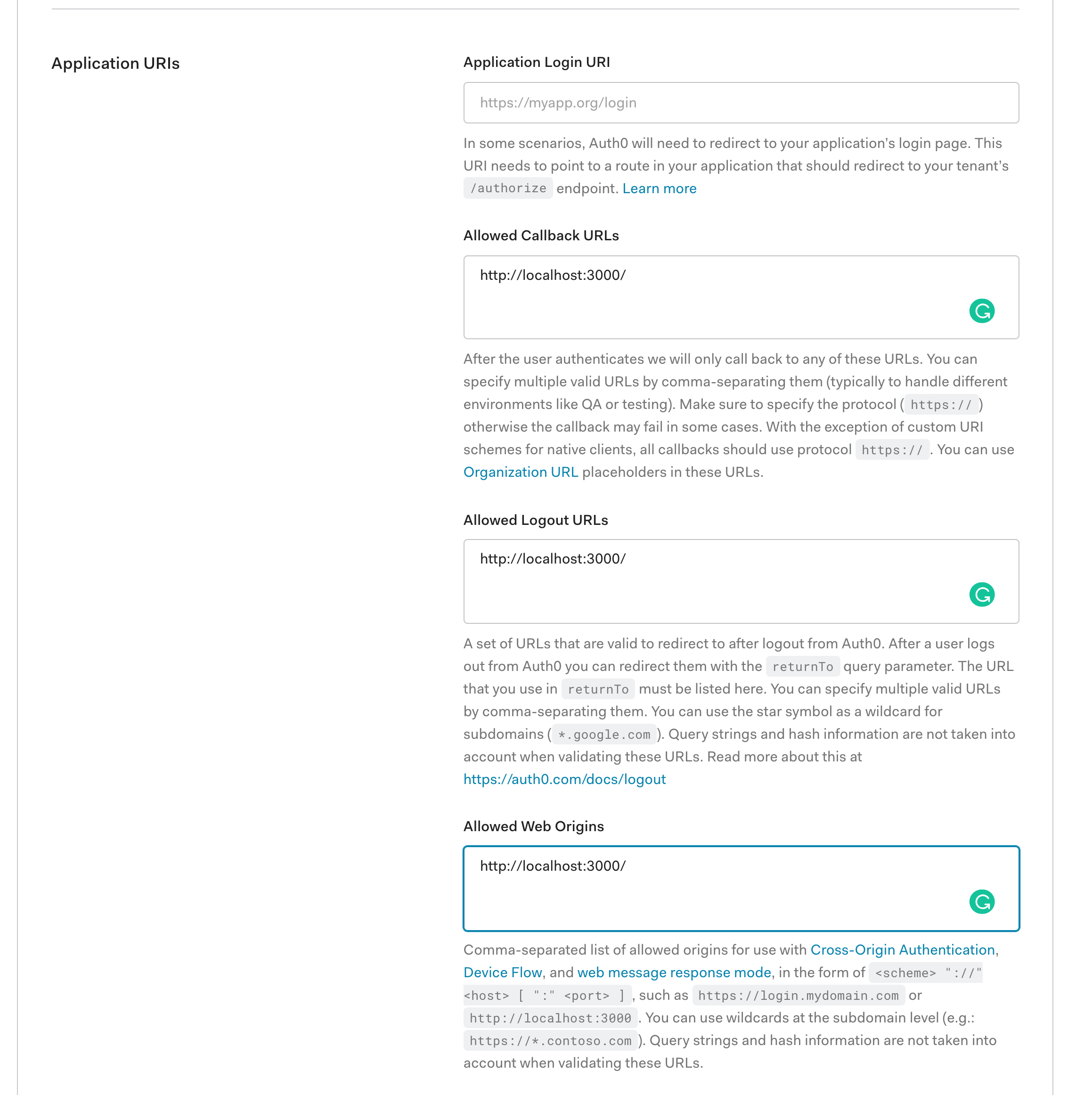 Screenshot of Auth0 magic mirror application
