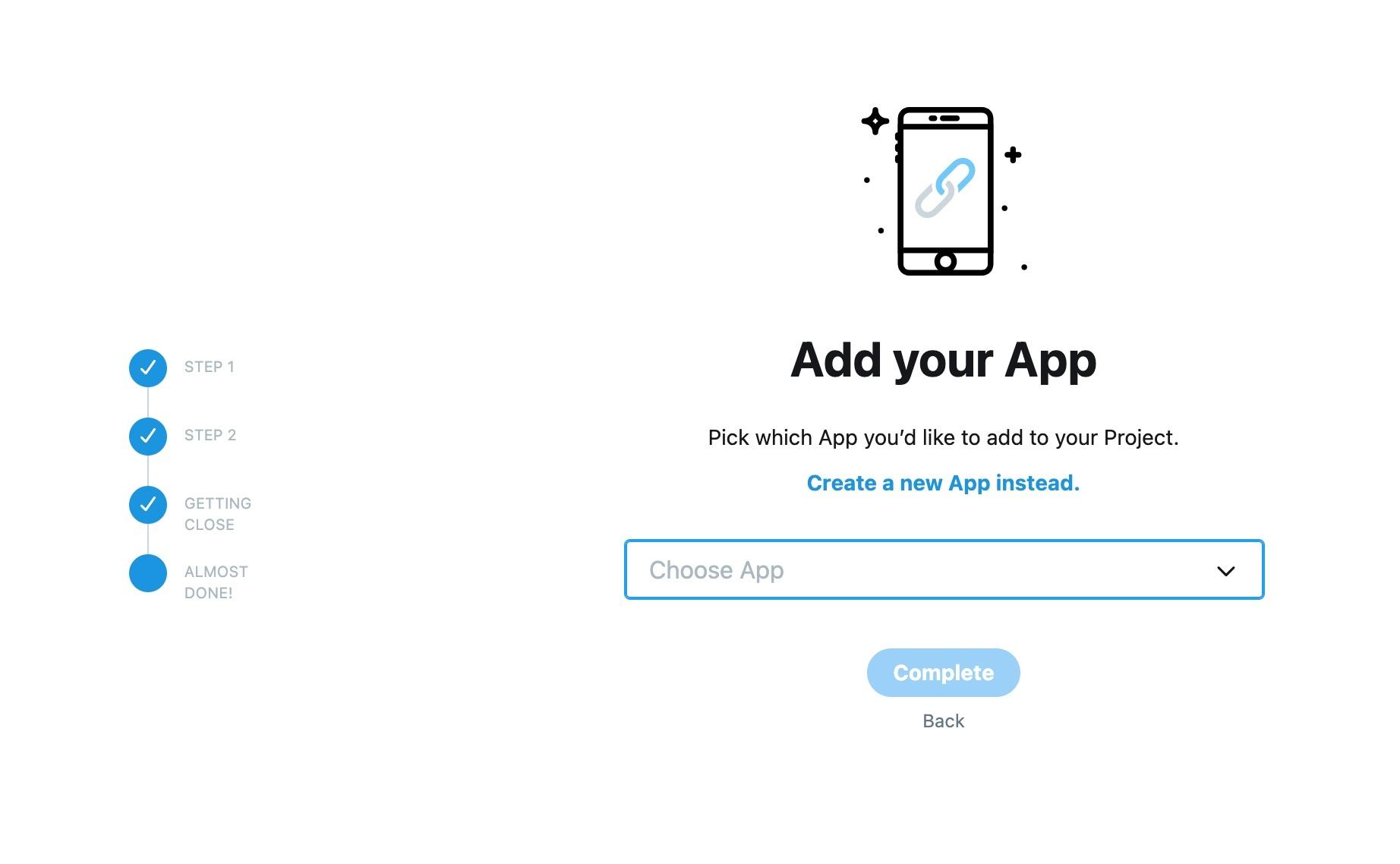 Create app in Twitter dashboard