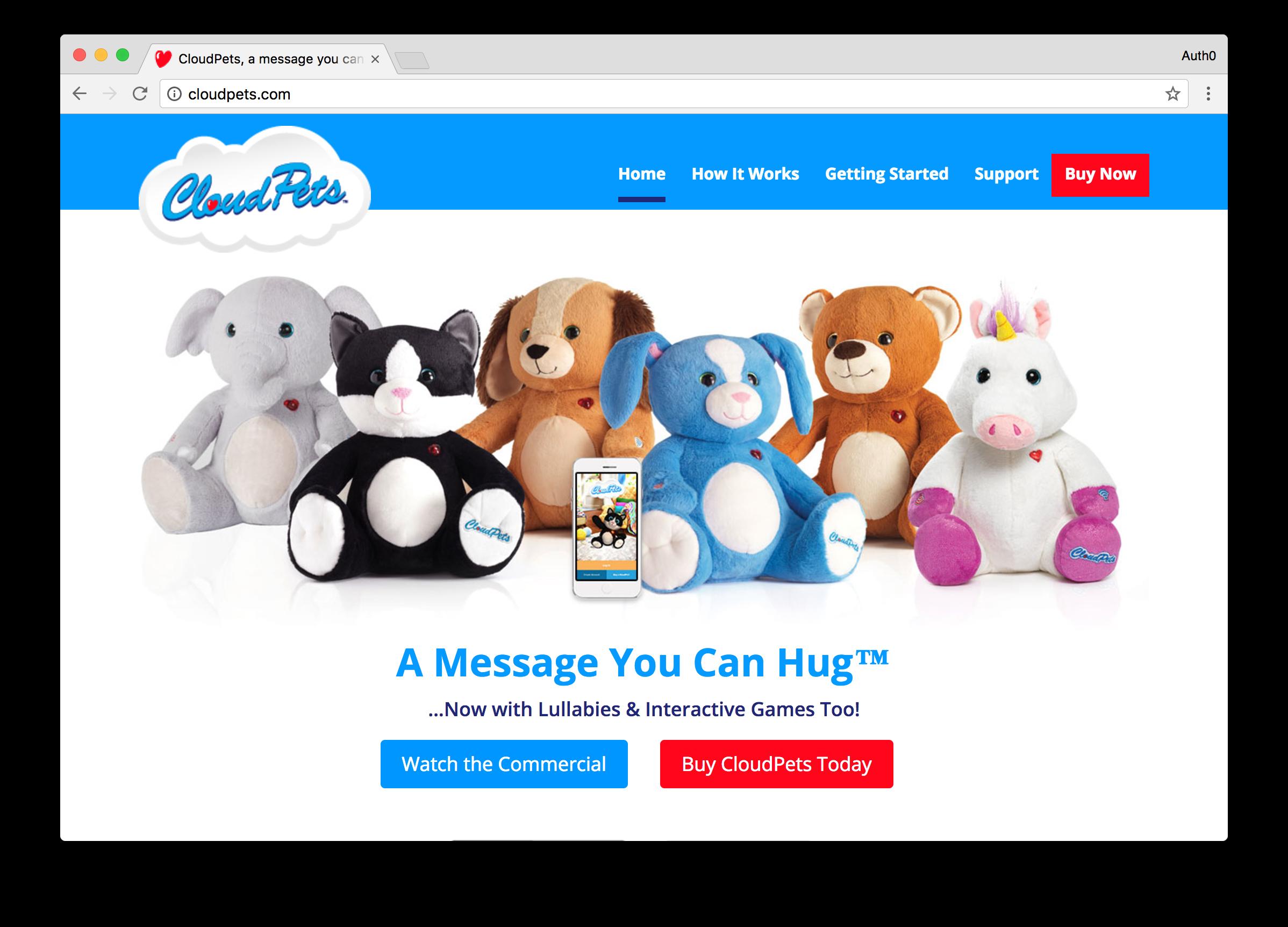 Cloudpets Homepage