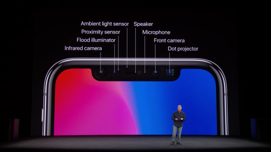 Apple presenting iPhone X with FaceID technology