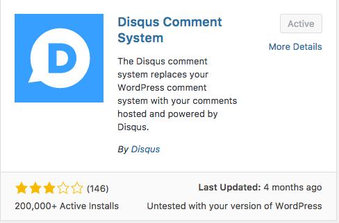 Disqus Comment System Plugin