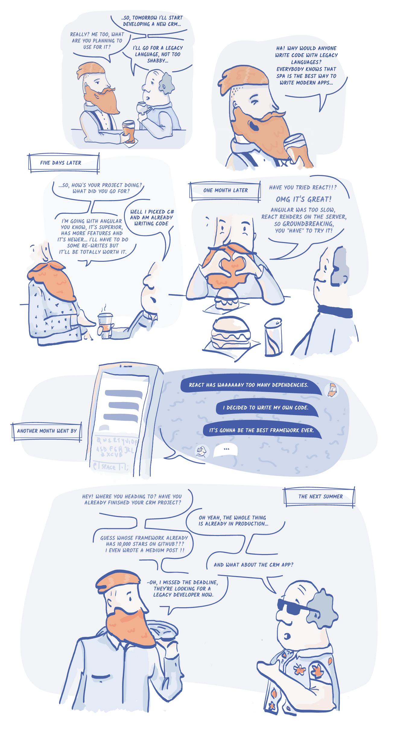 JavaScript fatigue comic