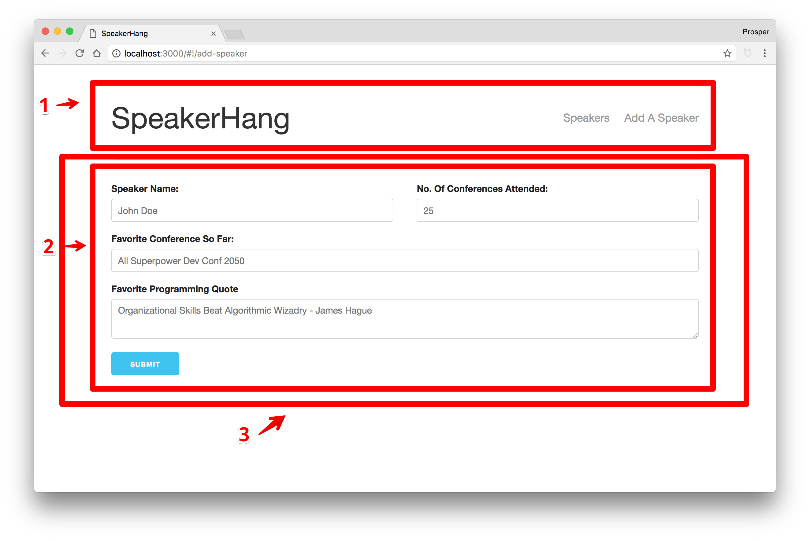 SpeakerHang - Initial component visualization