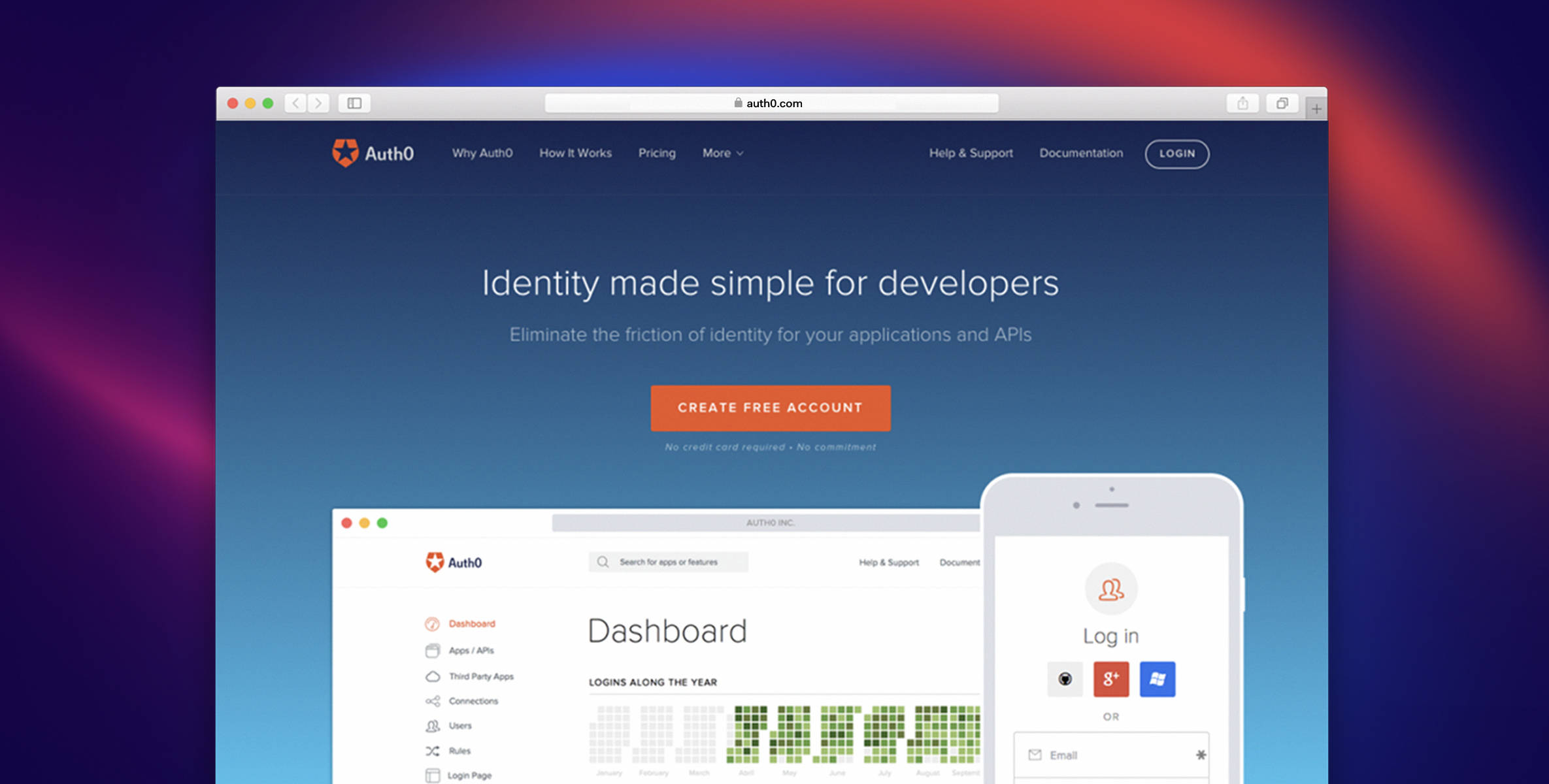 Auth0 makes clear that one of its goals is to make identity simpler for developers.