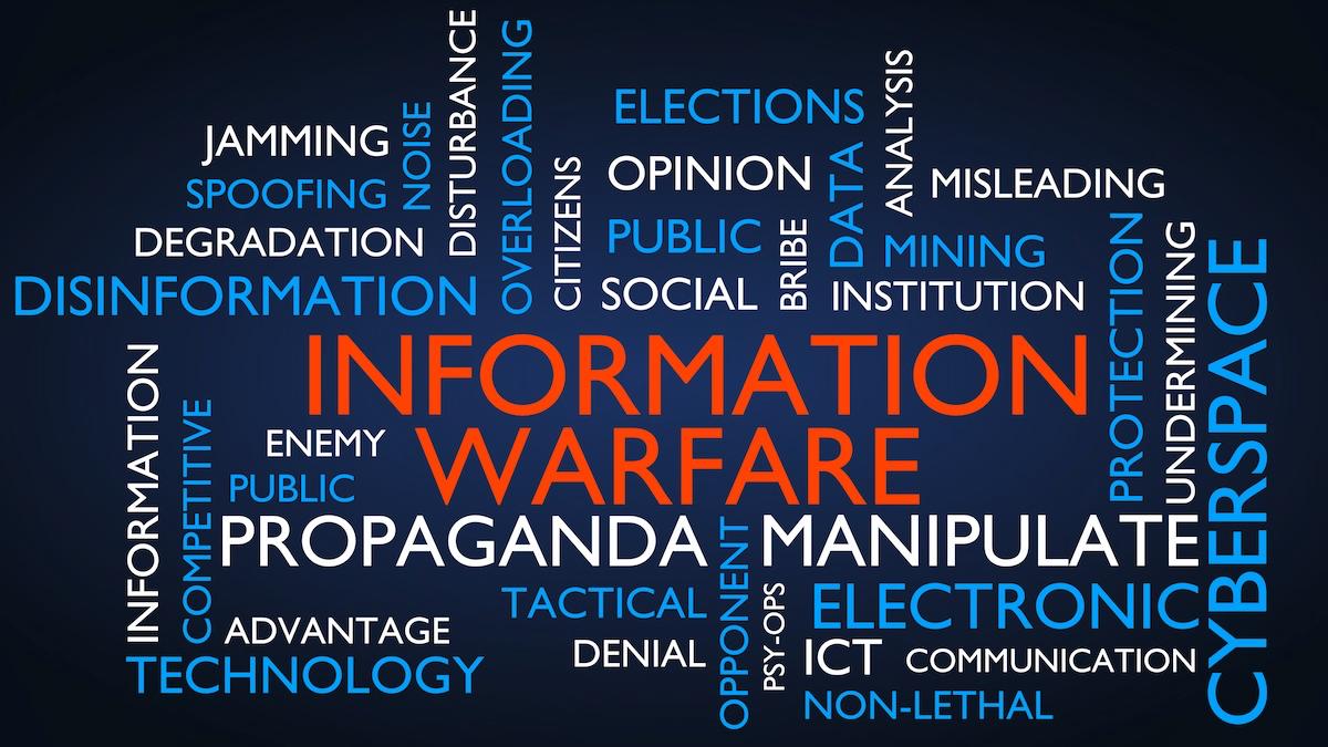 Information warfare infographic