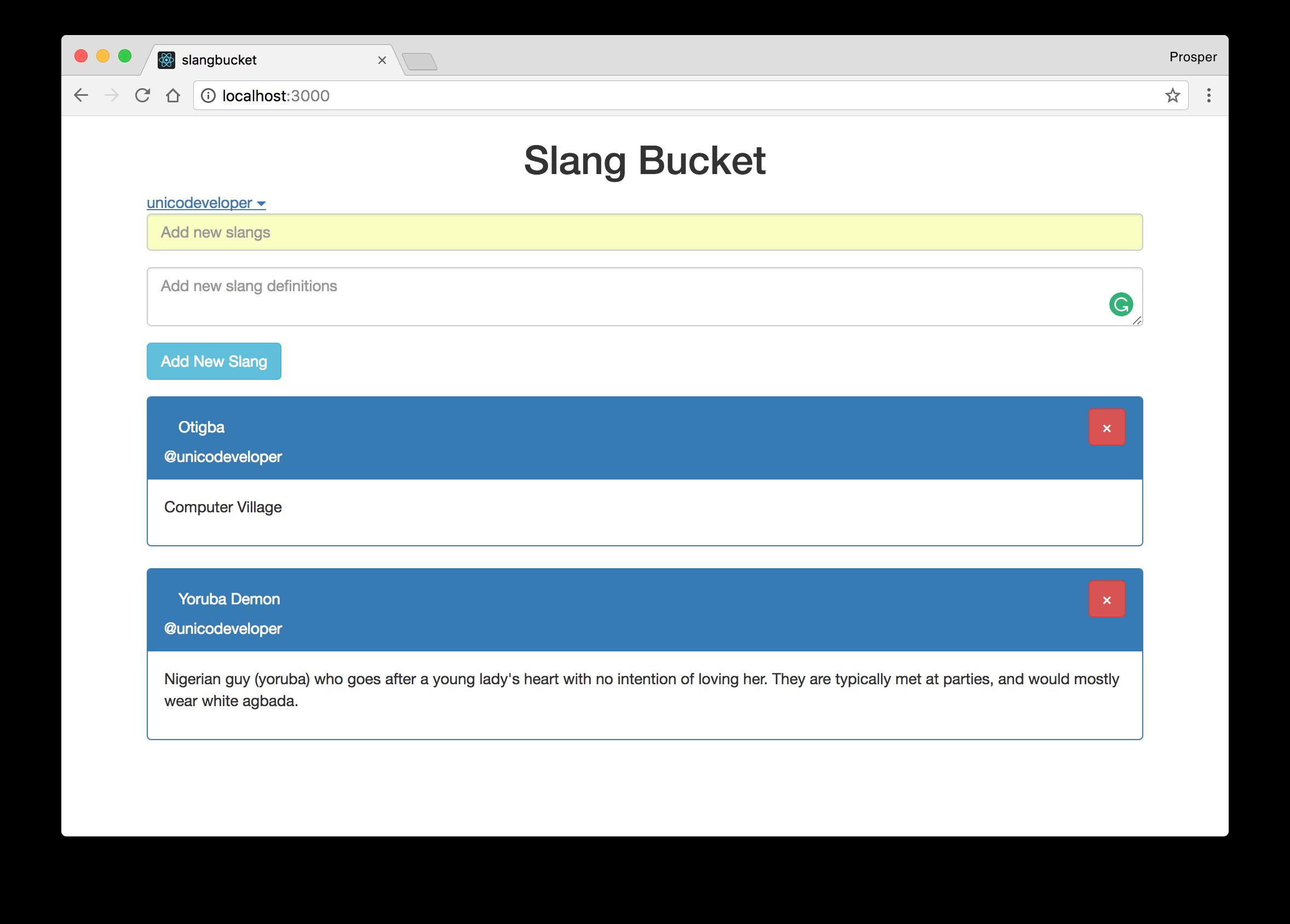 Meteor - Username of Slang Adder