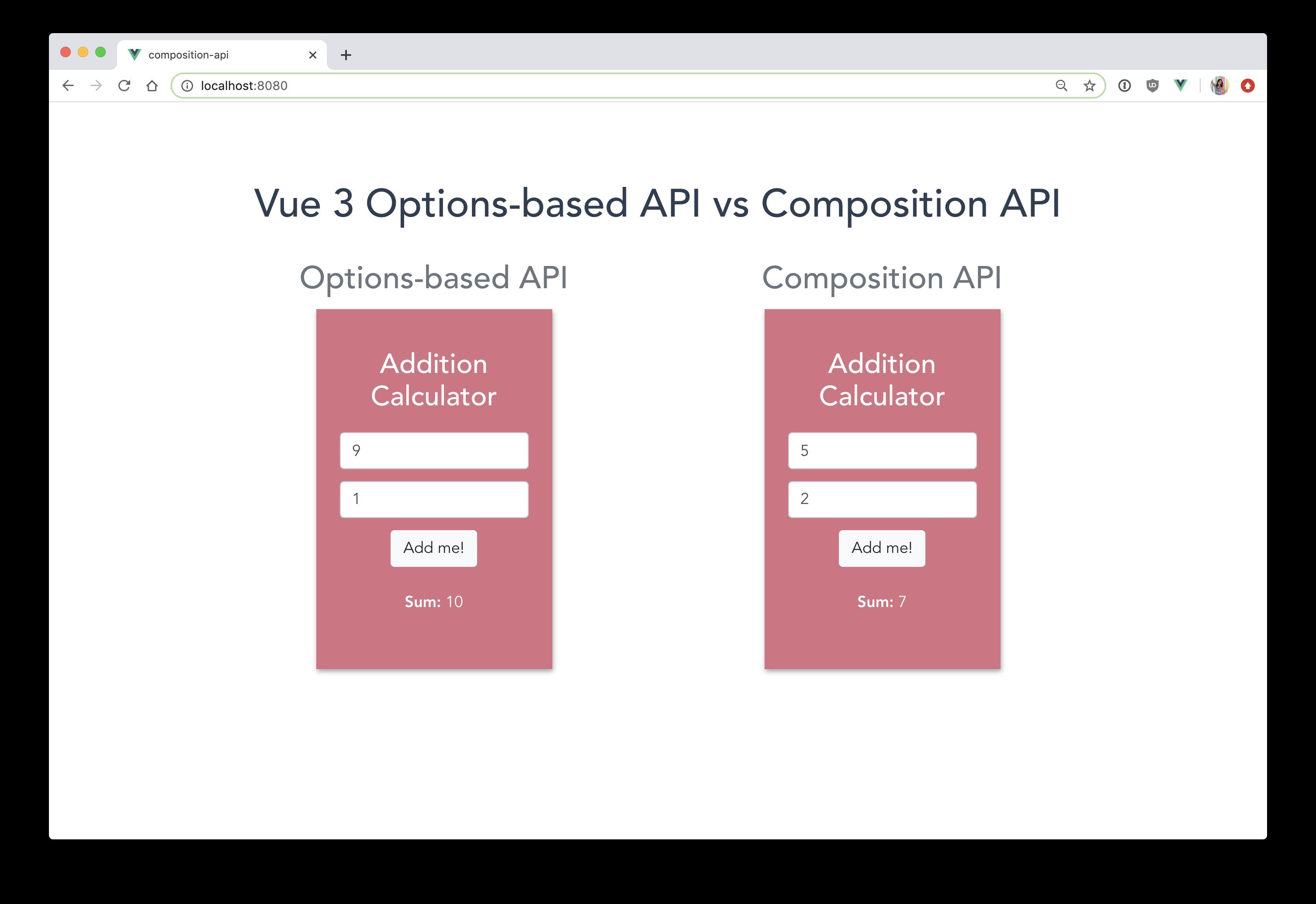 Vue 3 Composition API vs Options API