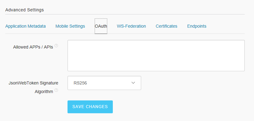 Configuring JWT on Auth0