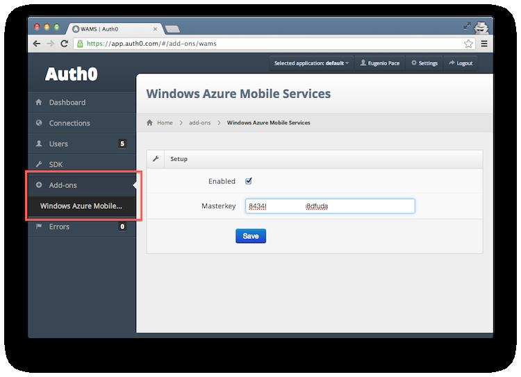 Azure Mobile Services Authentication