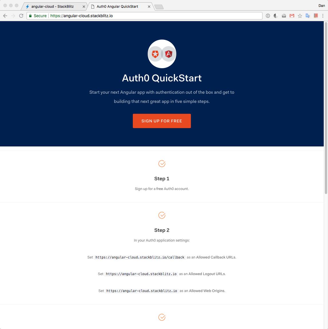StackBlitz live browser preview at custom domain