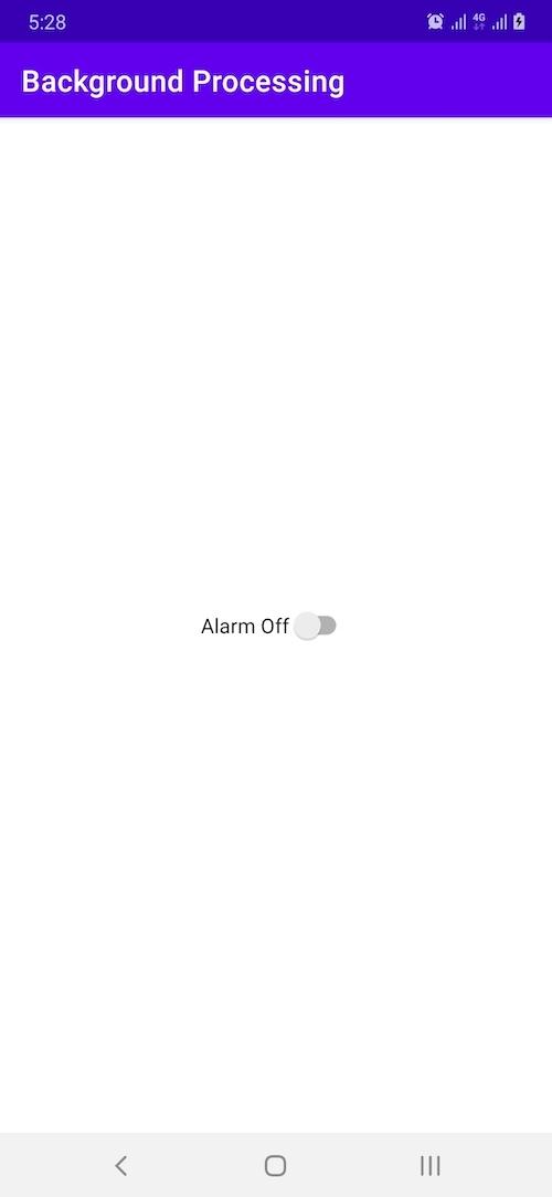 Alarm off