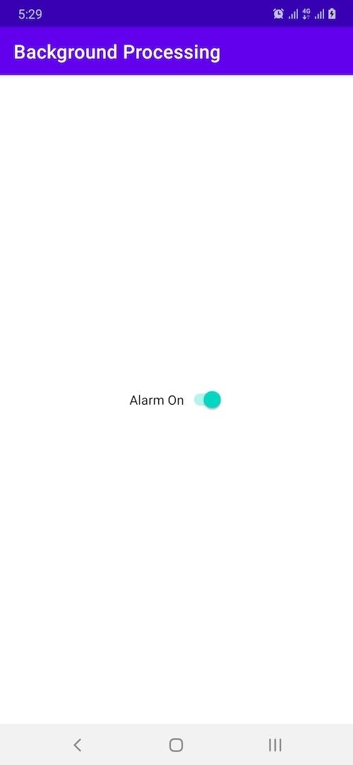 Alarm on