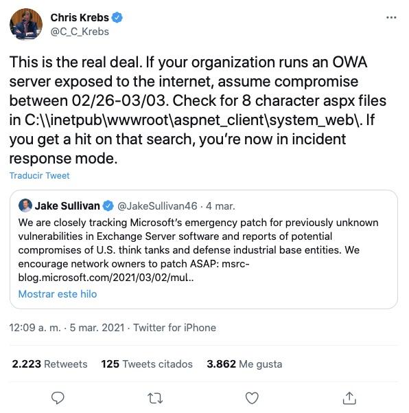 Chris Krebs tweet