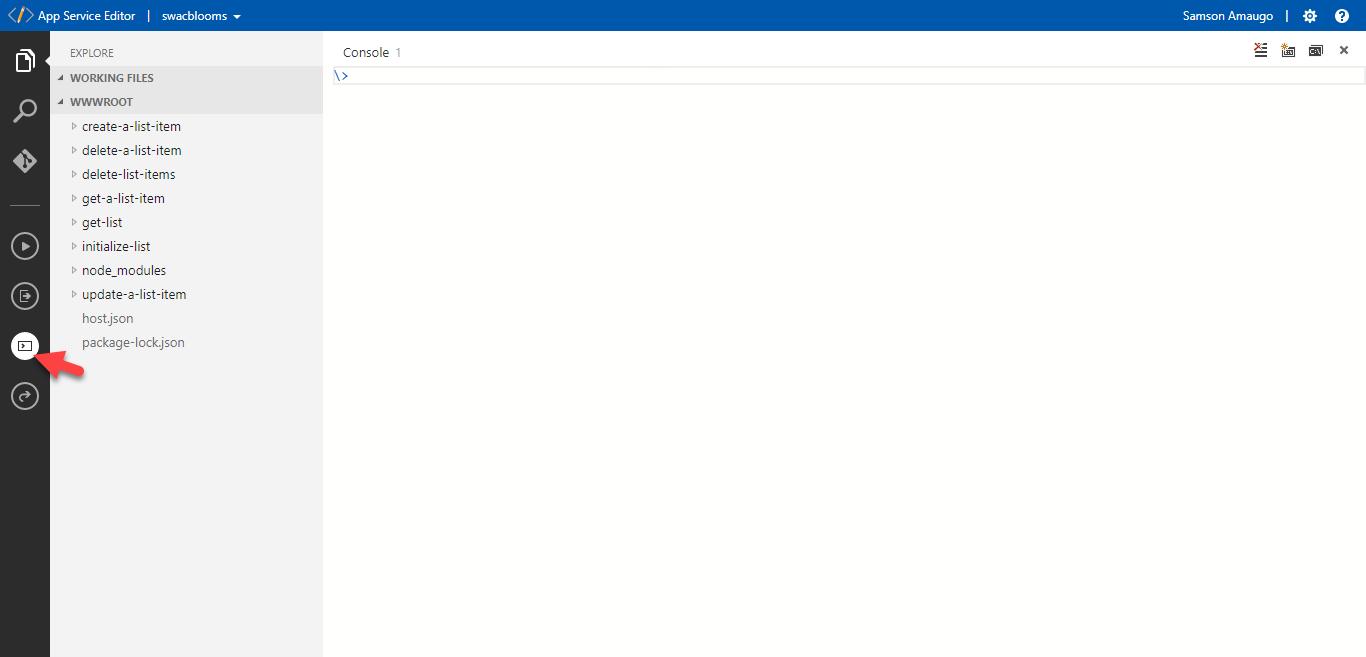 Azure App Service Editor