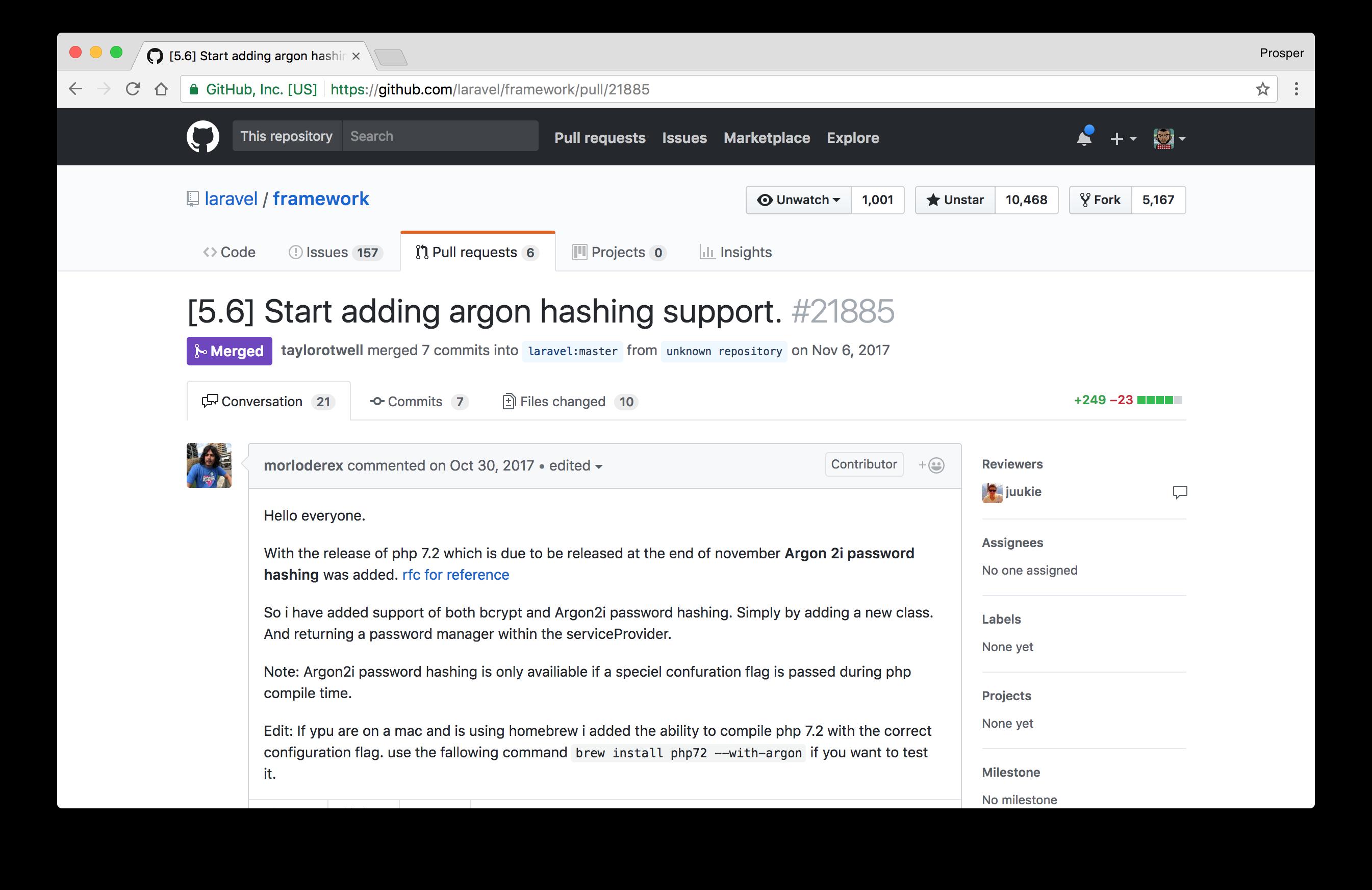 Argon Password Hashing Support