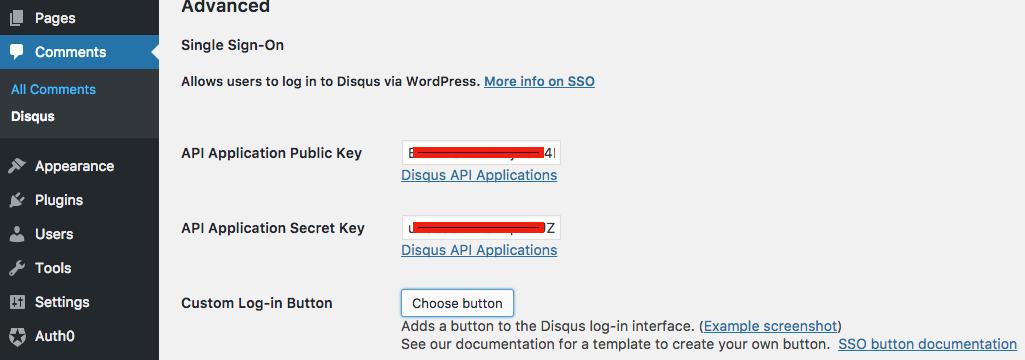 WordPress Plugin SSO Config