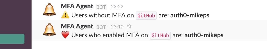 Slack MFA alert