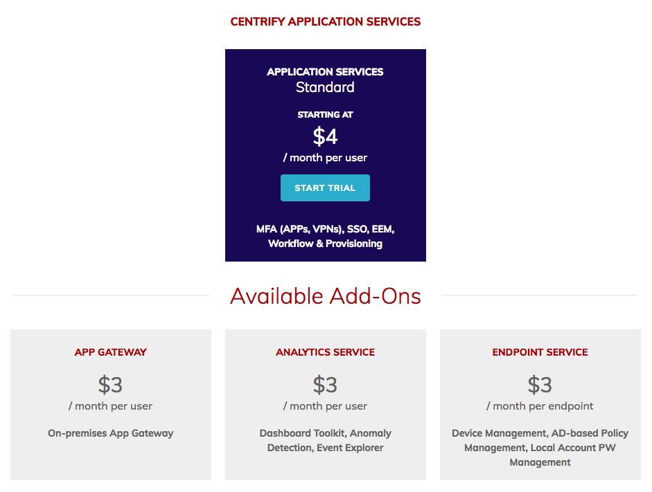 Centrify App Services