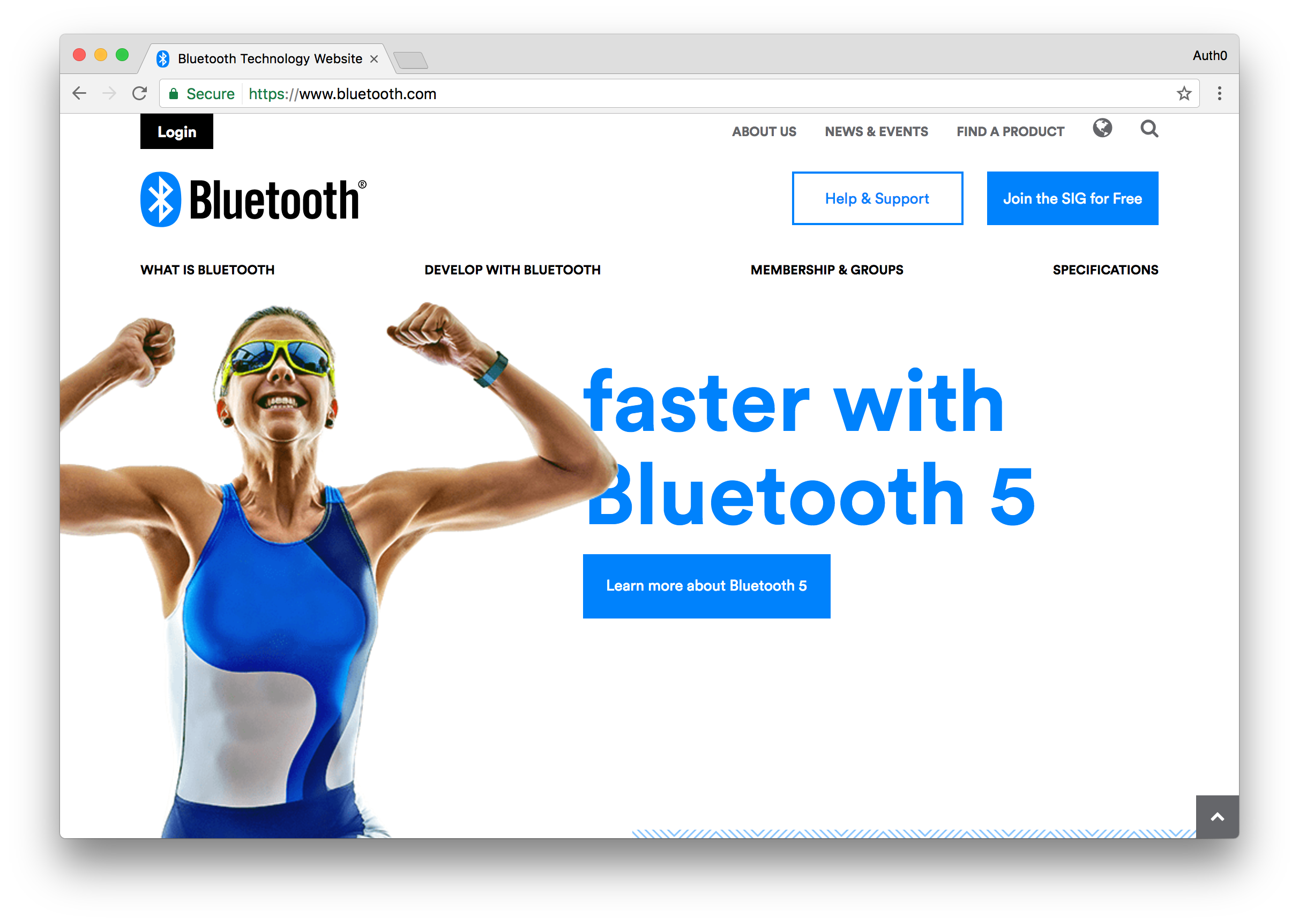 Bluetooth Website