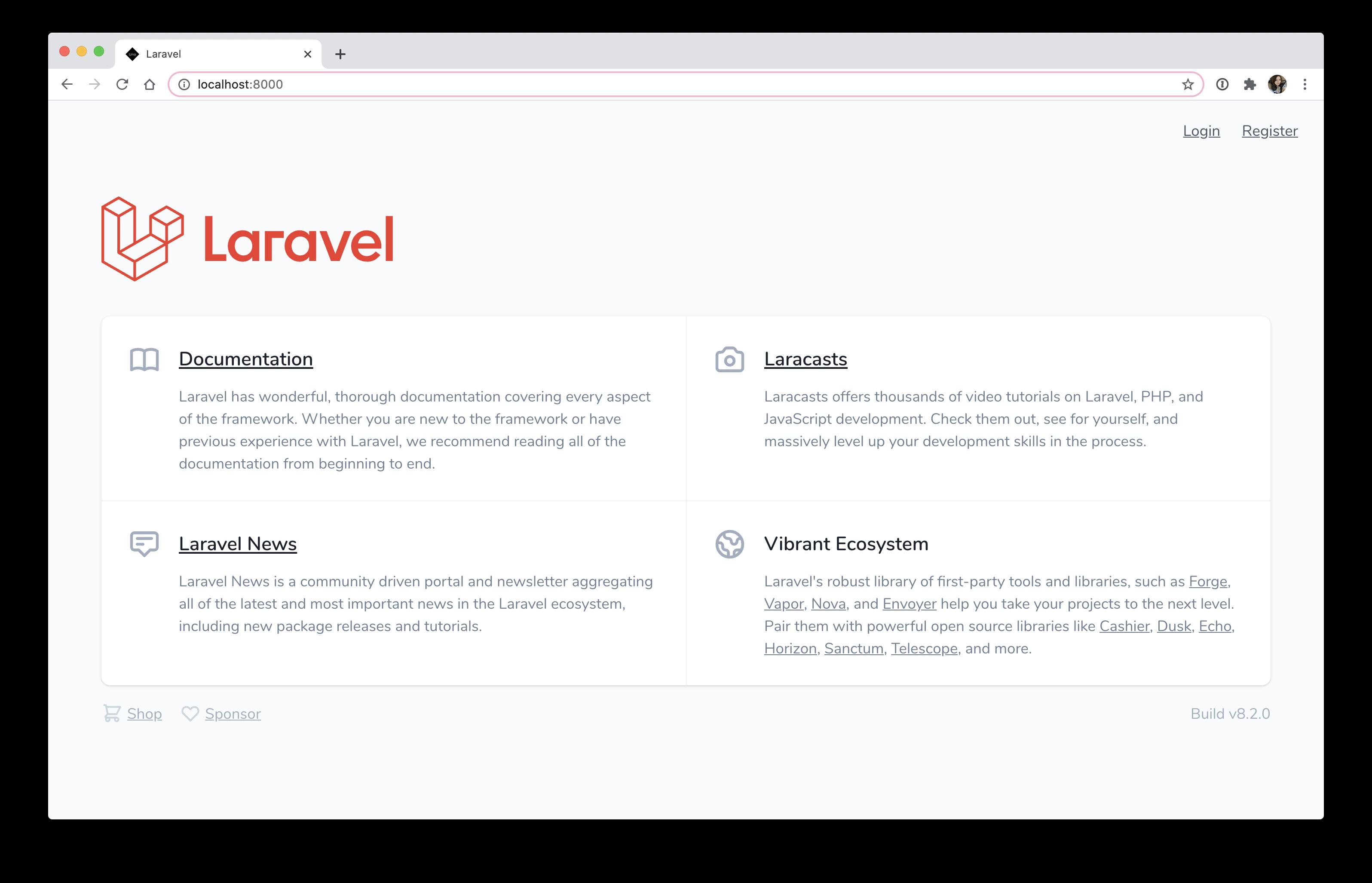 Laravel Jetstream Livewire installation