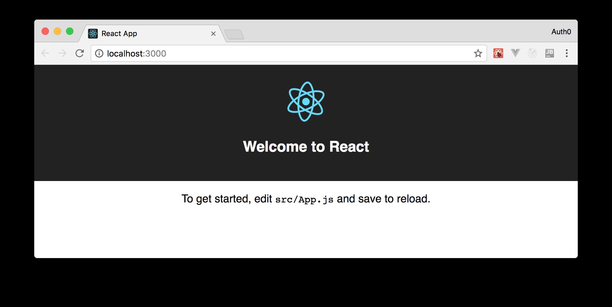 Default SPA create the create-react-app-tool