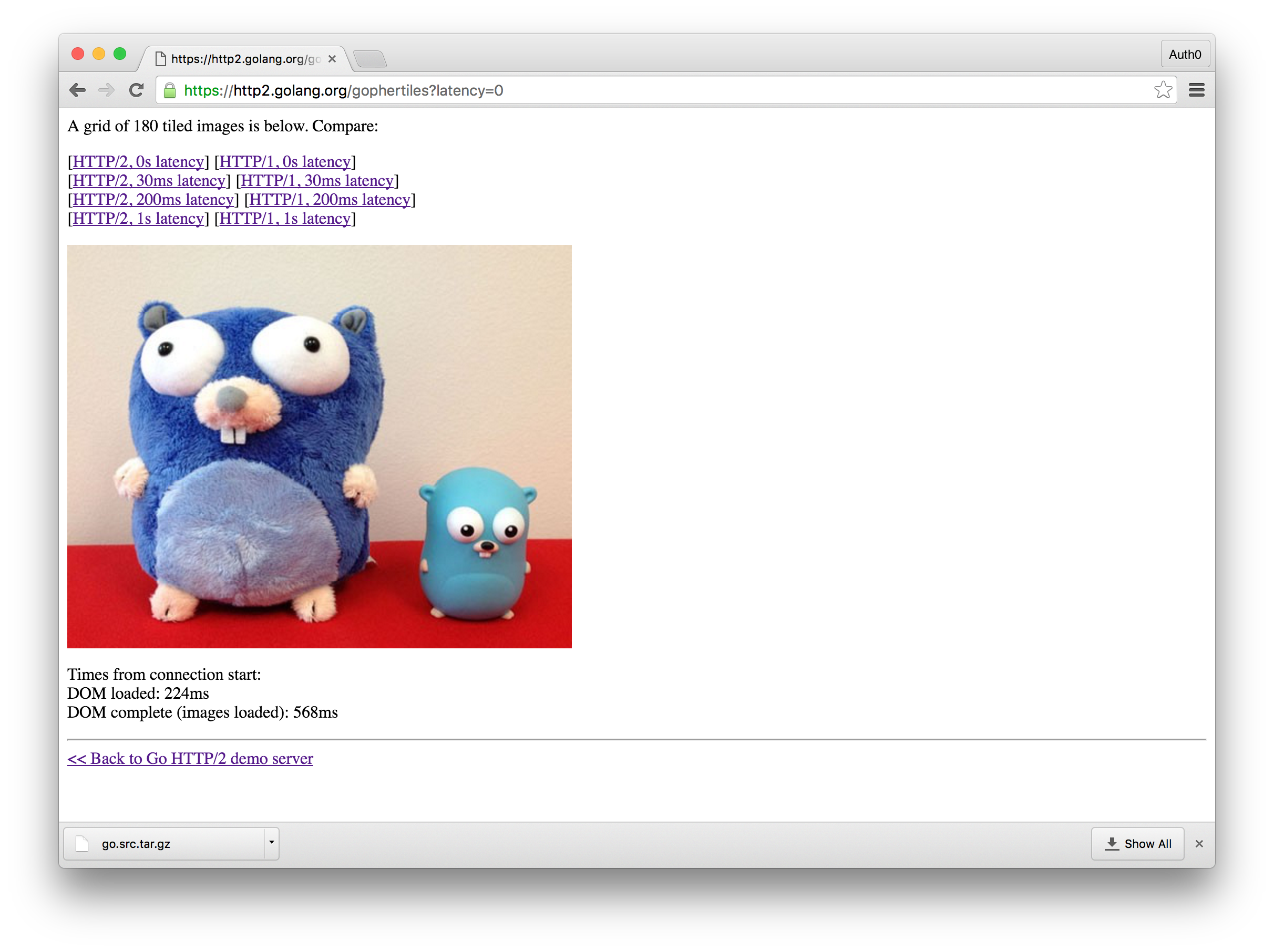 Gopher HTTP/2 Demo