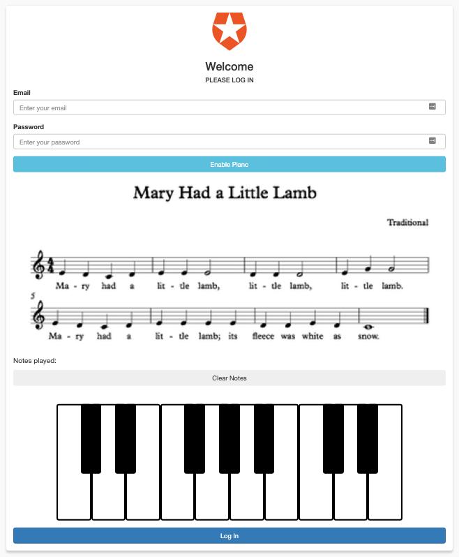Piano CRAPTCHA