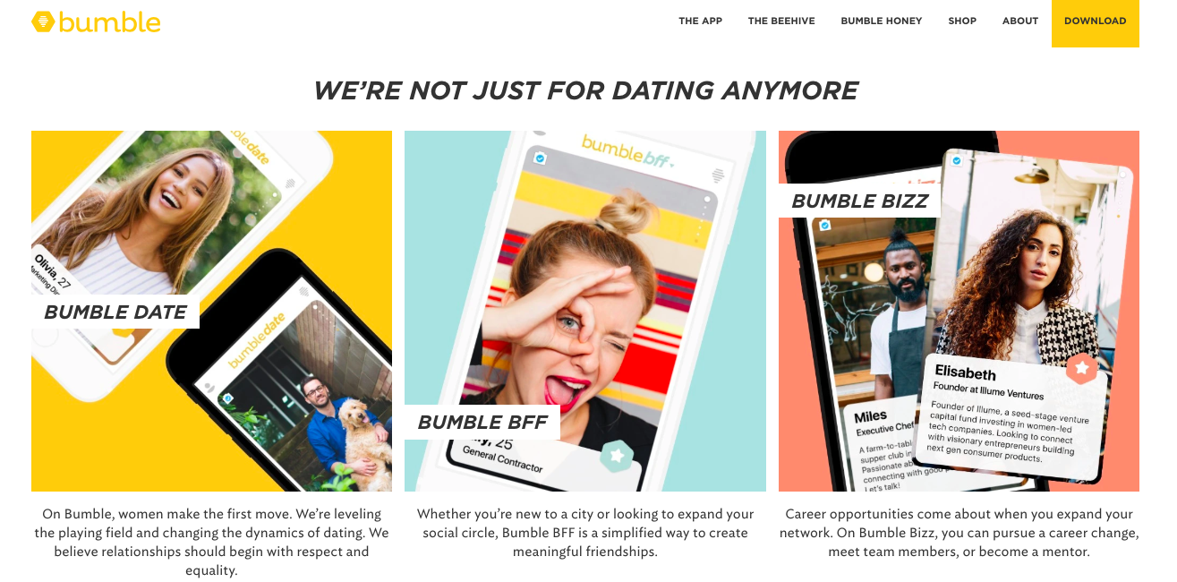 Bumble releases new products based on user trends