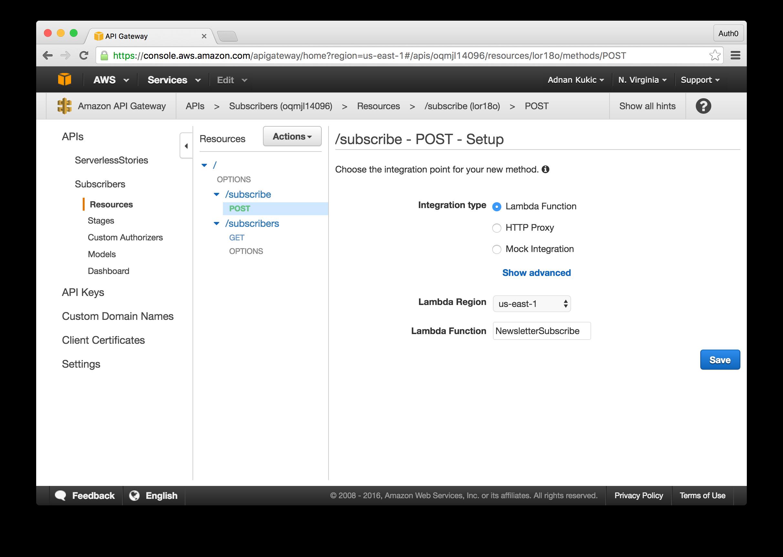 API Gateway Setup