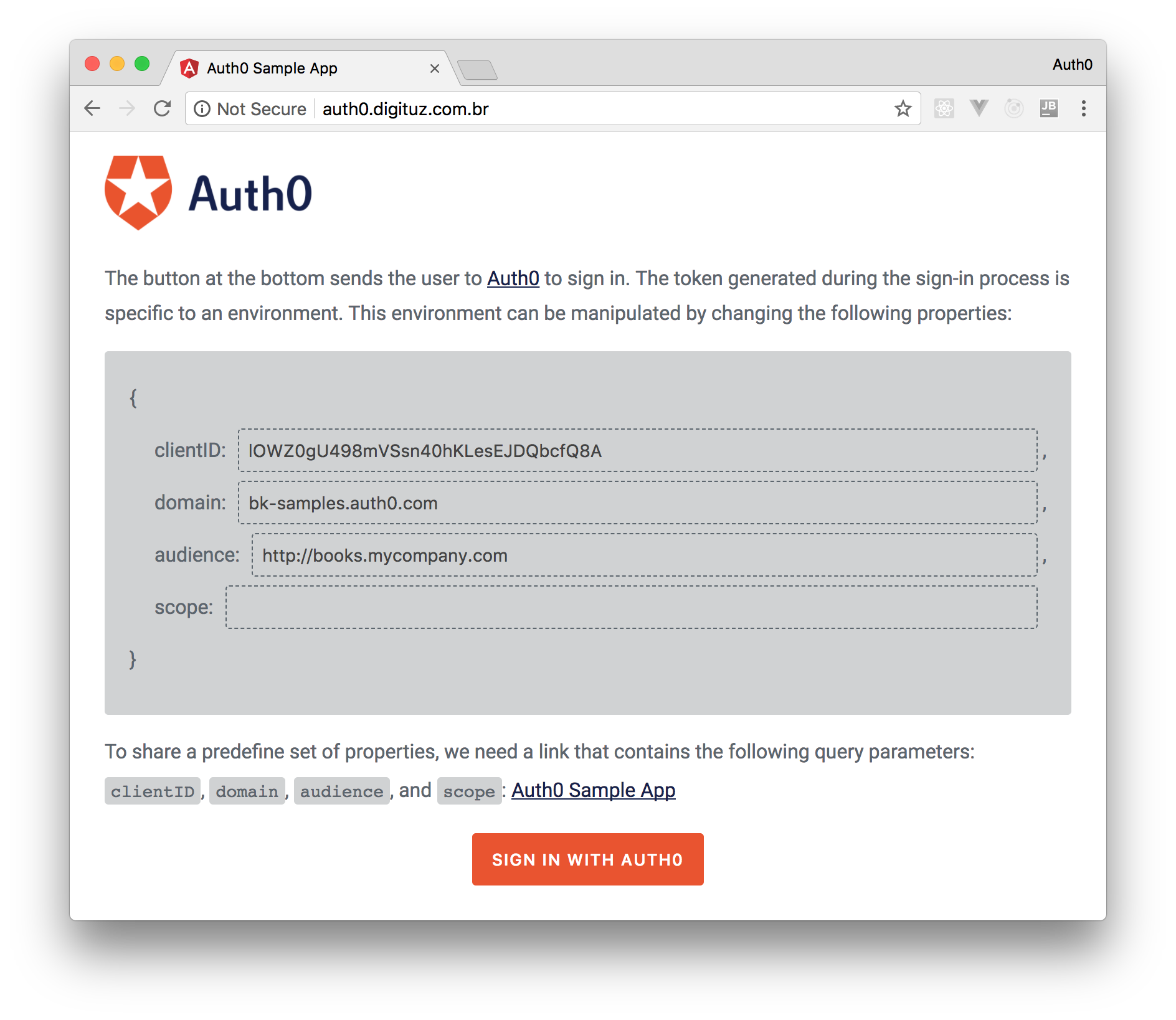Testing integration with Auth0