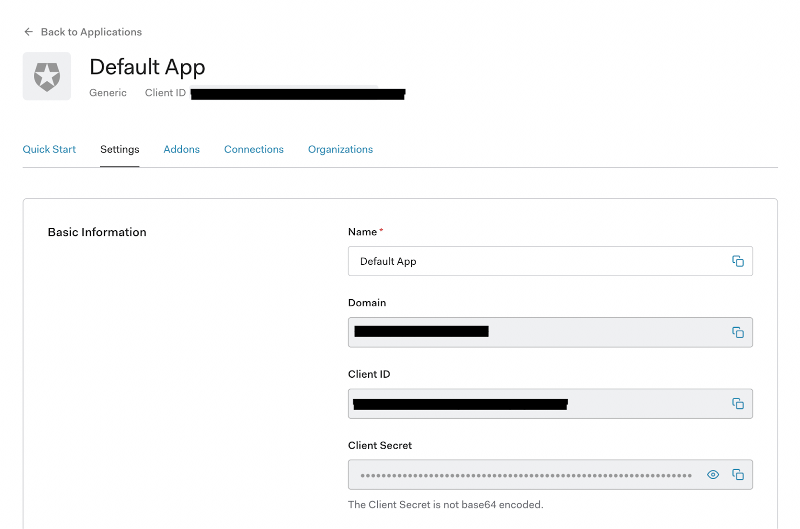 Setting up Auth0