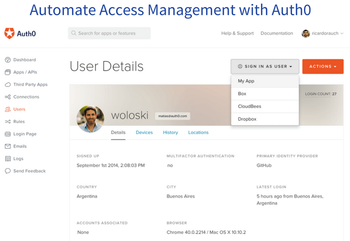 Automate Access Management with Auth0