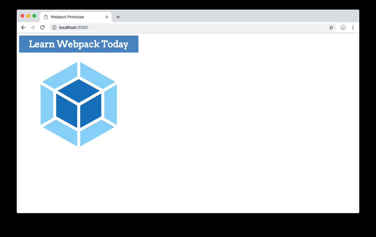 Webpack 4 prototyping - Learn webpack localhost page