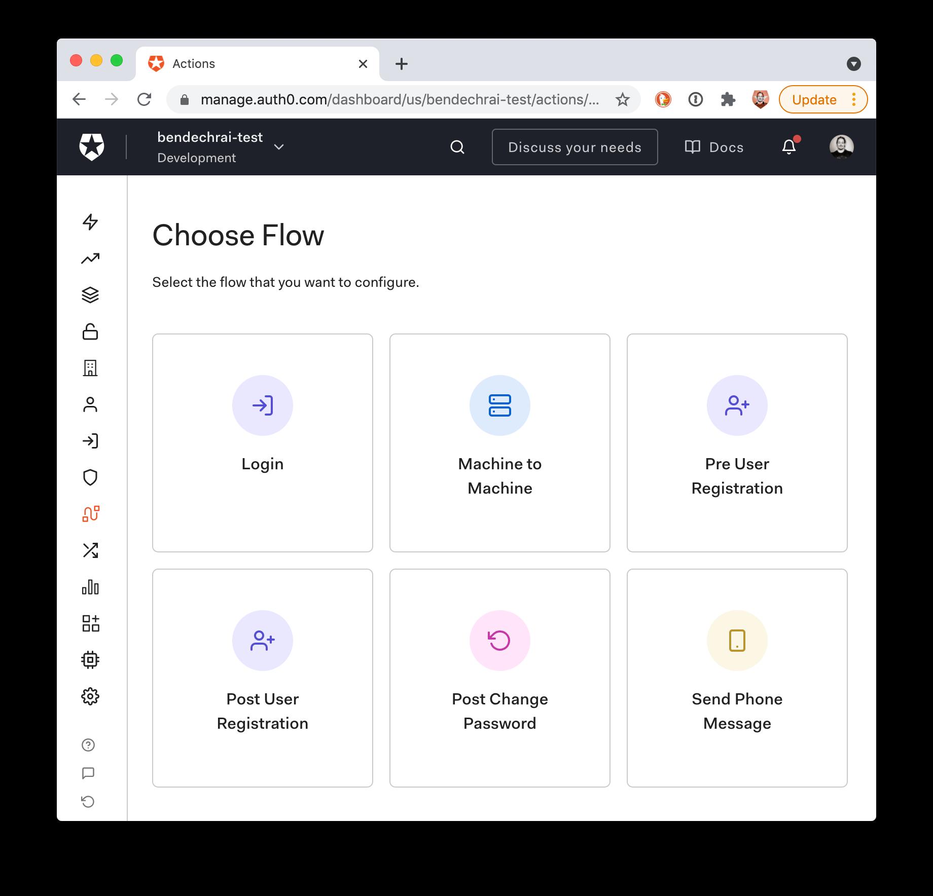 Flows Screen