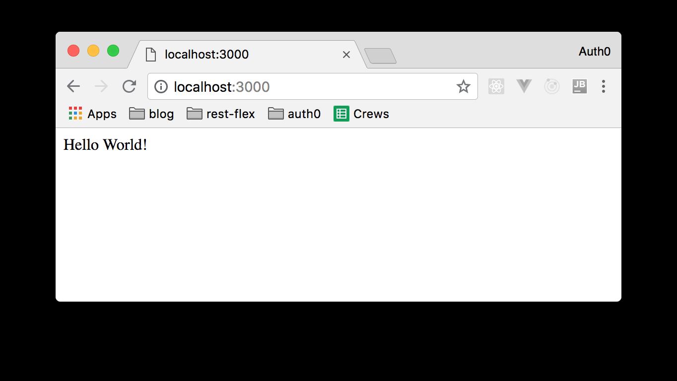 Nest.js web app hello world page