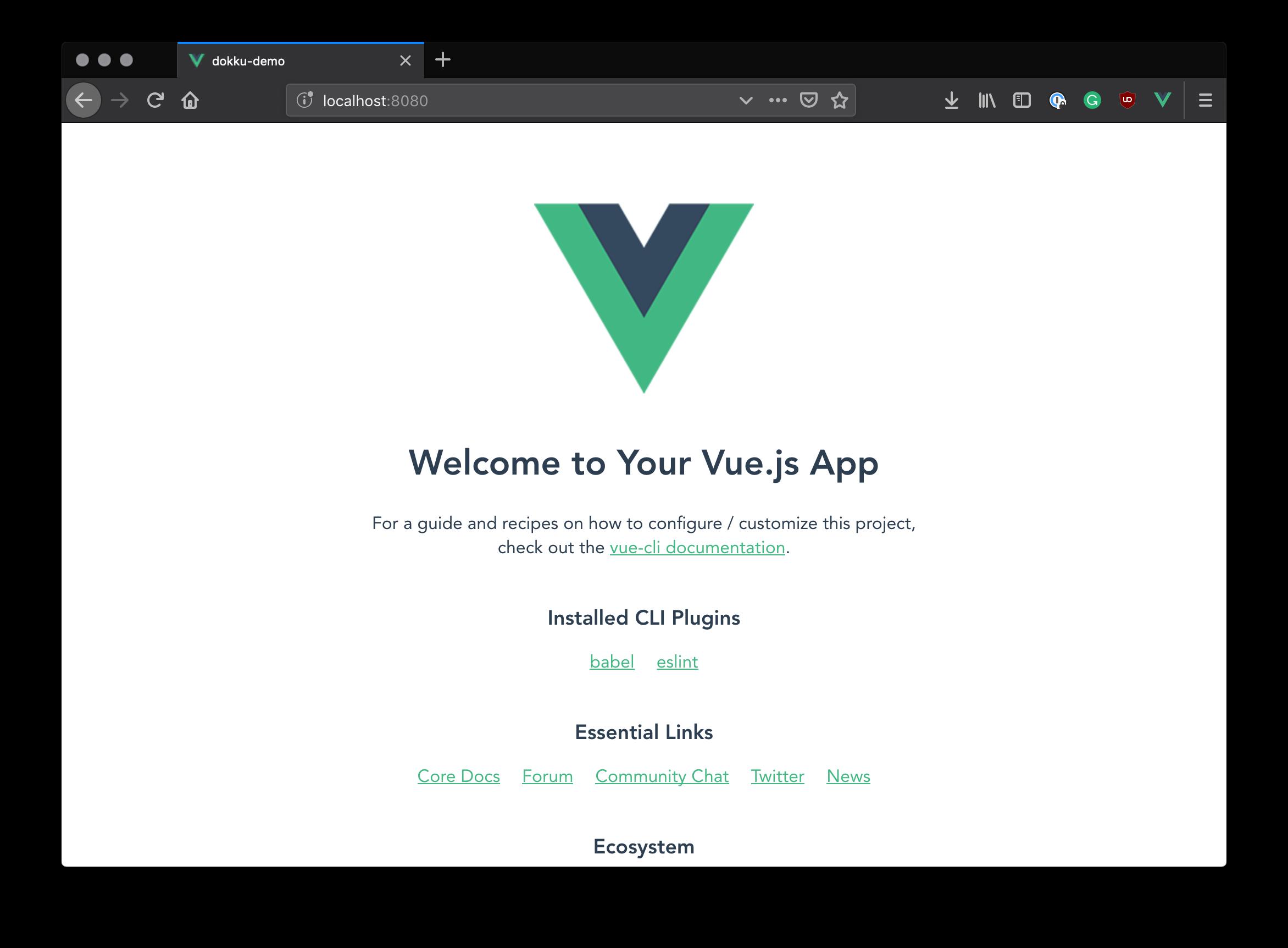 Vue.js boilerplate app