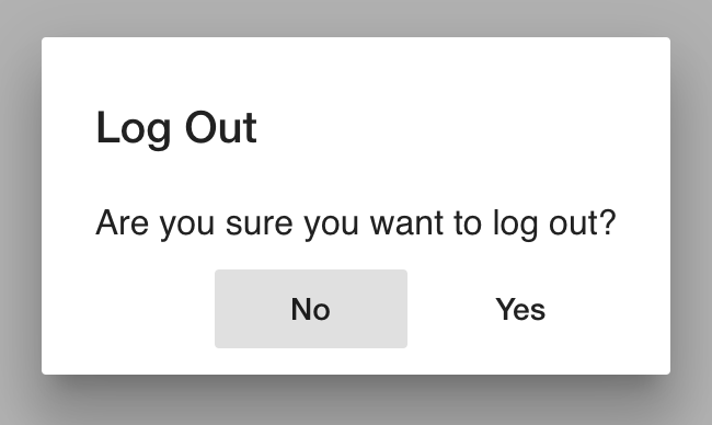 Finished NgRx logout popup
