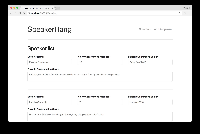 SpeakerHang - List of speakers