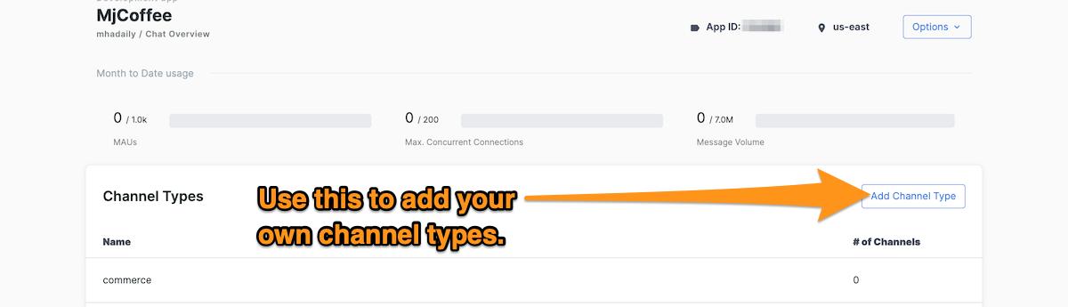 Stream channel types.