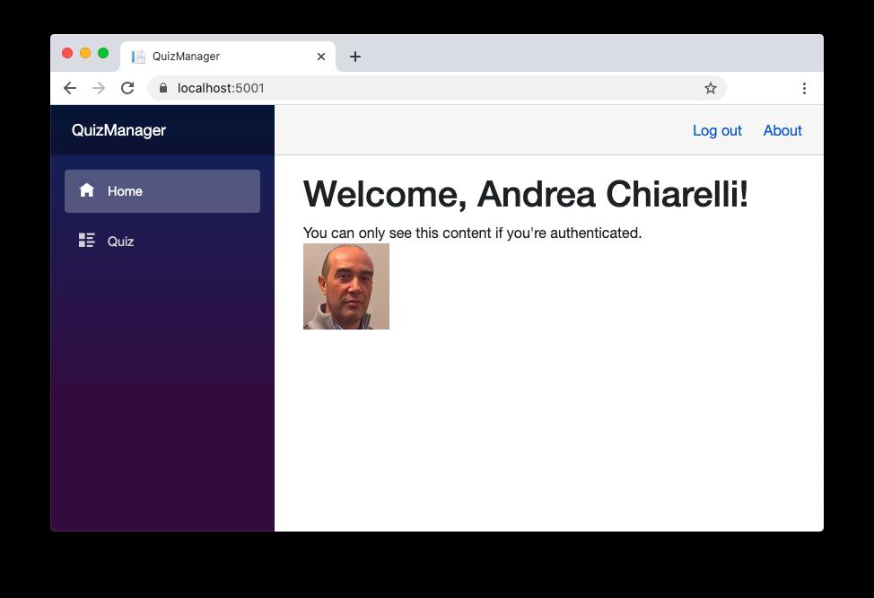 Blazor user profile