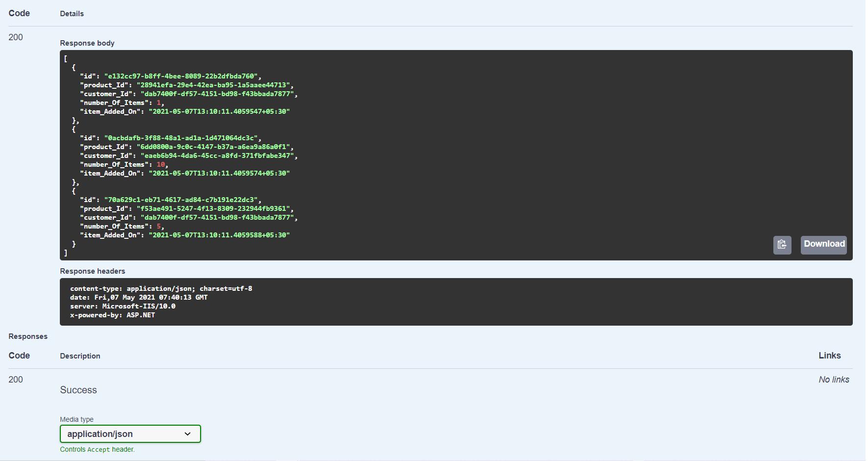 Testing APIs using Swagger UI