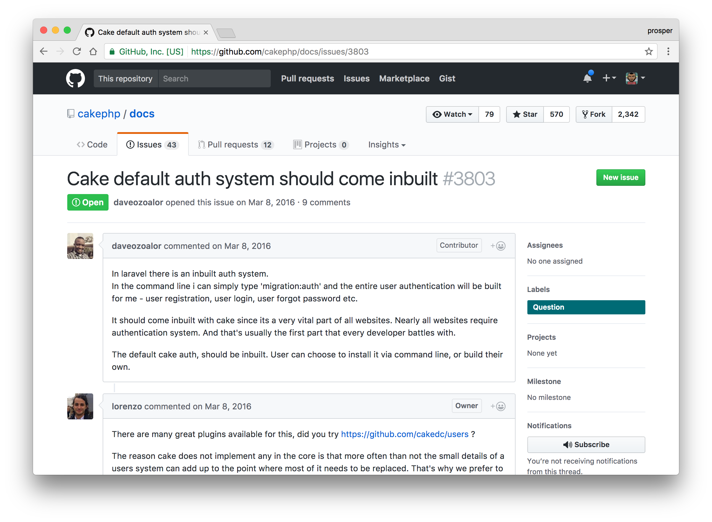 CakePHP issue about built-in auth