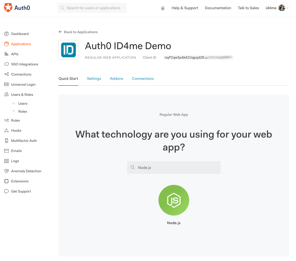 Auth0 application technology