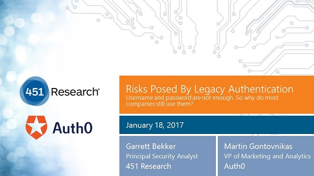 Risks Posed By Legacy Authentication Webinar