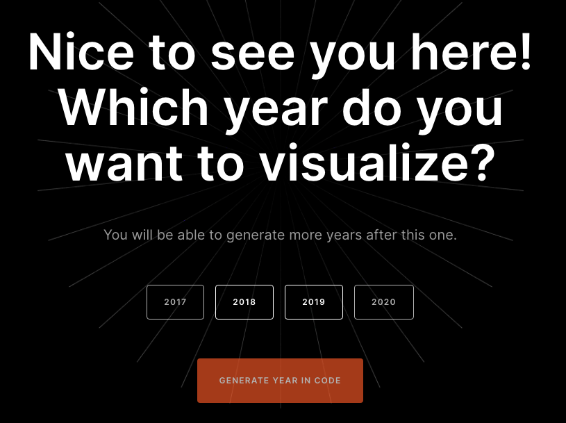 """""""Year in Code's"""" """"select year"""" interface"""