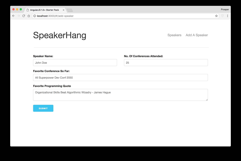 SpeakerHang - Add Speaker