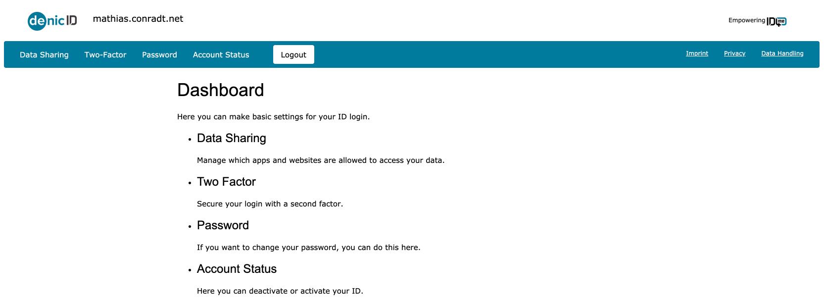 identity authority dashboard