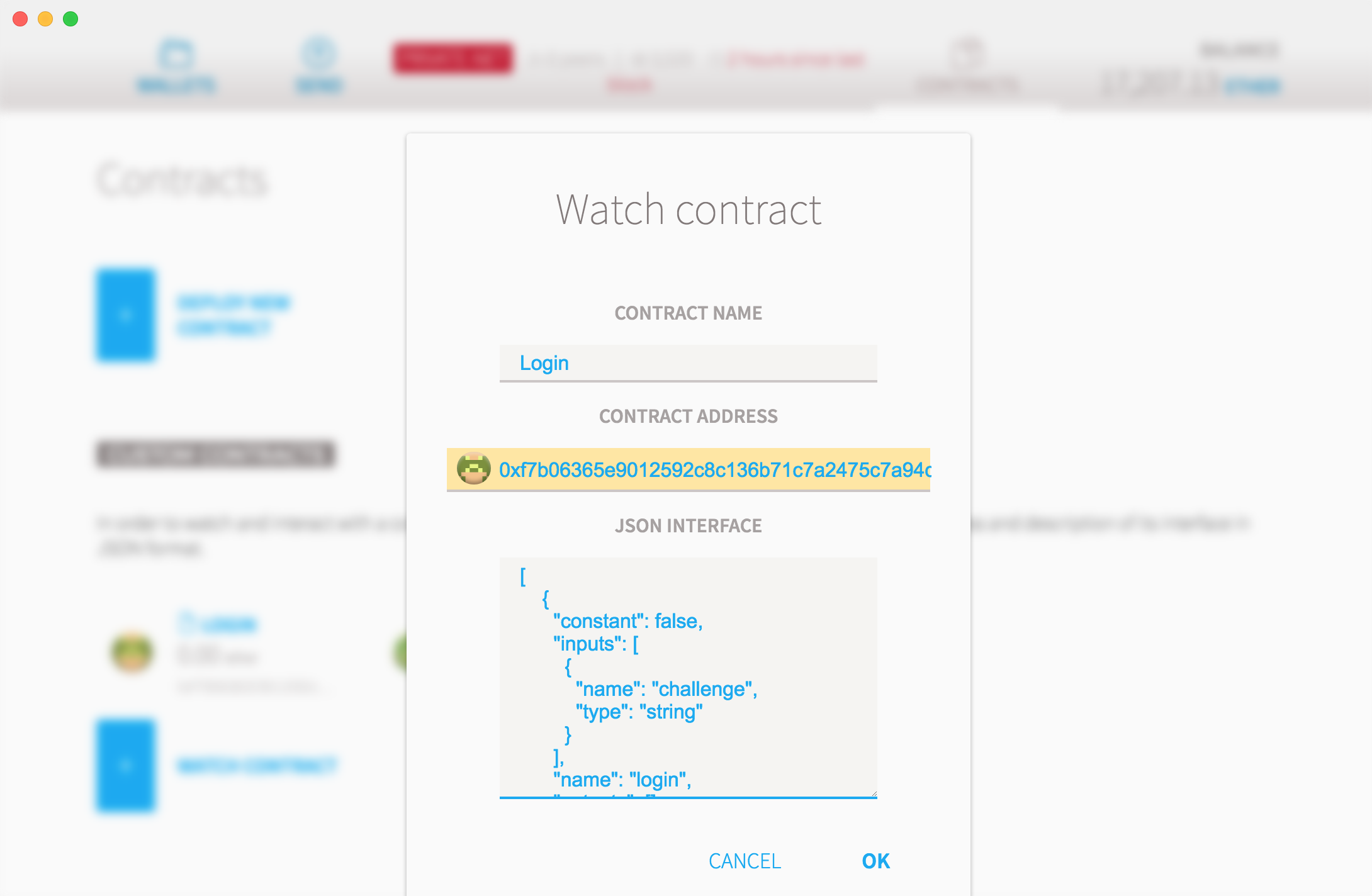 Watch contract