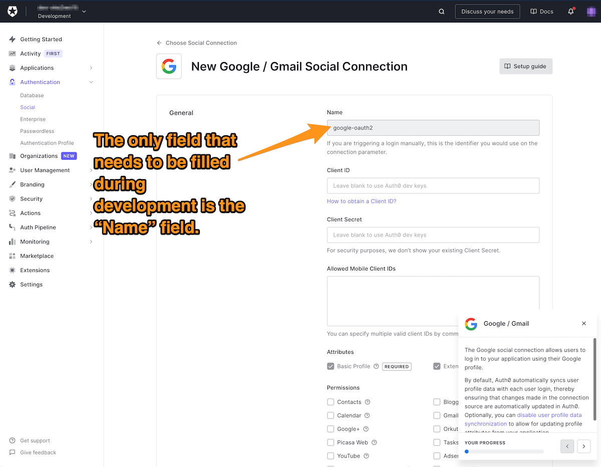 New Google/Gmail social connection