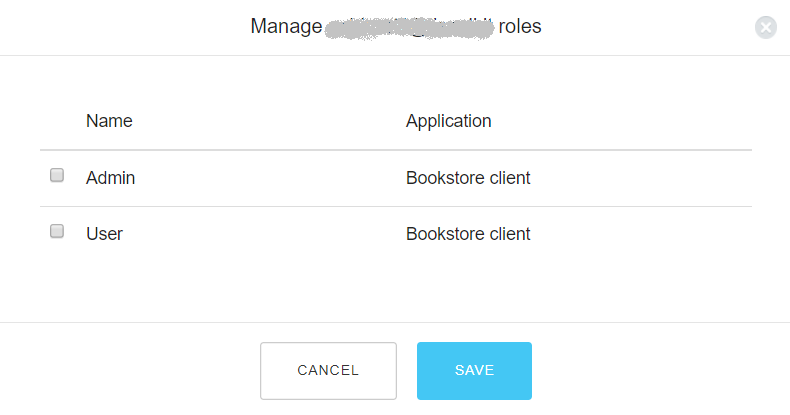 Adding roles to users.
